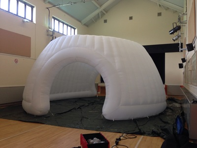 Testing space for industrial inflatable
